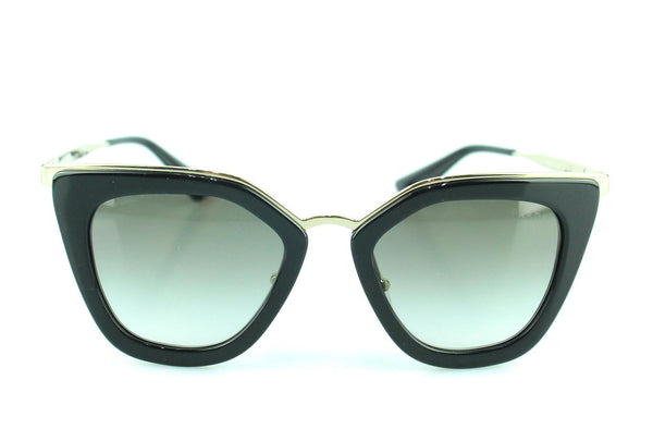 Prada SPR53S Black/Gold Cat Eye Sunglasses