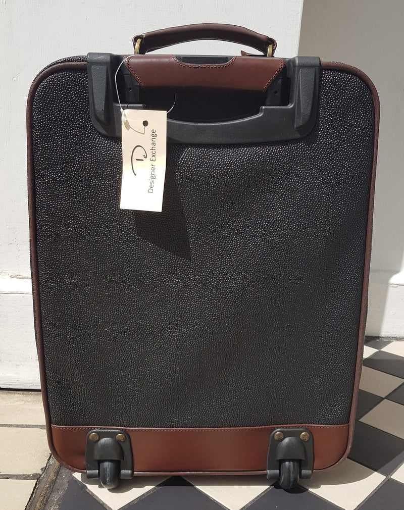 "Mulberry Scotchgrain Rooling Cabin Size ""Pilot"" Luggage Case With Shoe Bag (RRP €1200)"