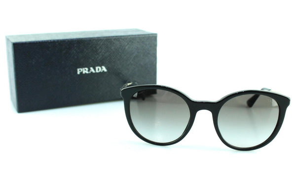 Prada SPR17S Black/Goldtone Sunglasses