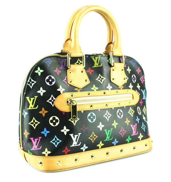 Louis Vuitton Multicolour Alma Black FL1003 Rare