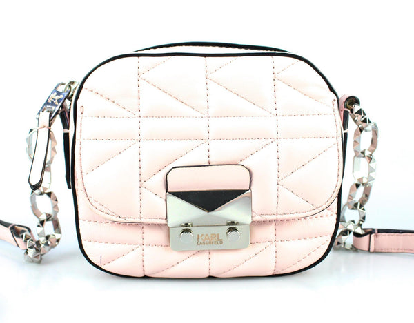 Karl Lagerfeld Baby Pink Quilted X Body