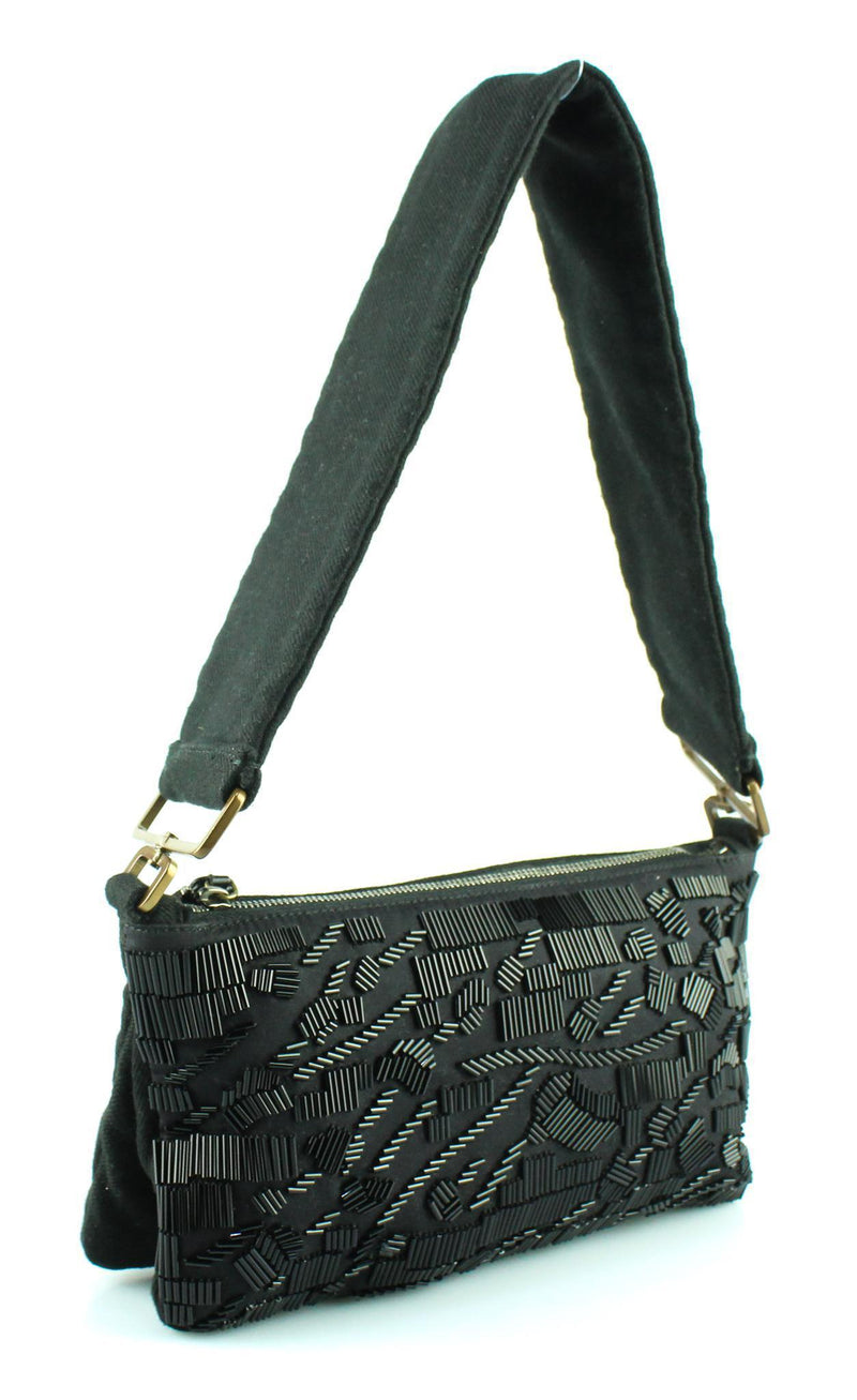 Prada Black Embellished Pochette With Strap