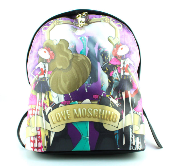 Love Moschino Cartoon Print Backpack