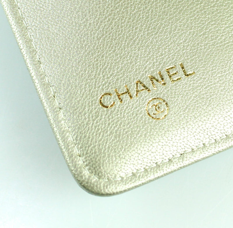 Chanel Chevron Metallic Flap Wallet 2017/18
