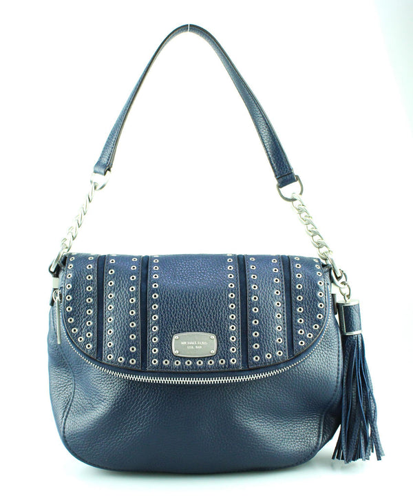 Michael Kors Navy Mini Grommet Shoulder Bag