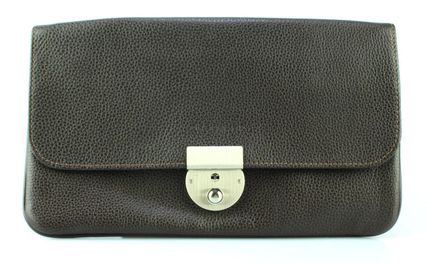 Longchamp Brown Leather Le Foulonne Clutch