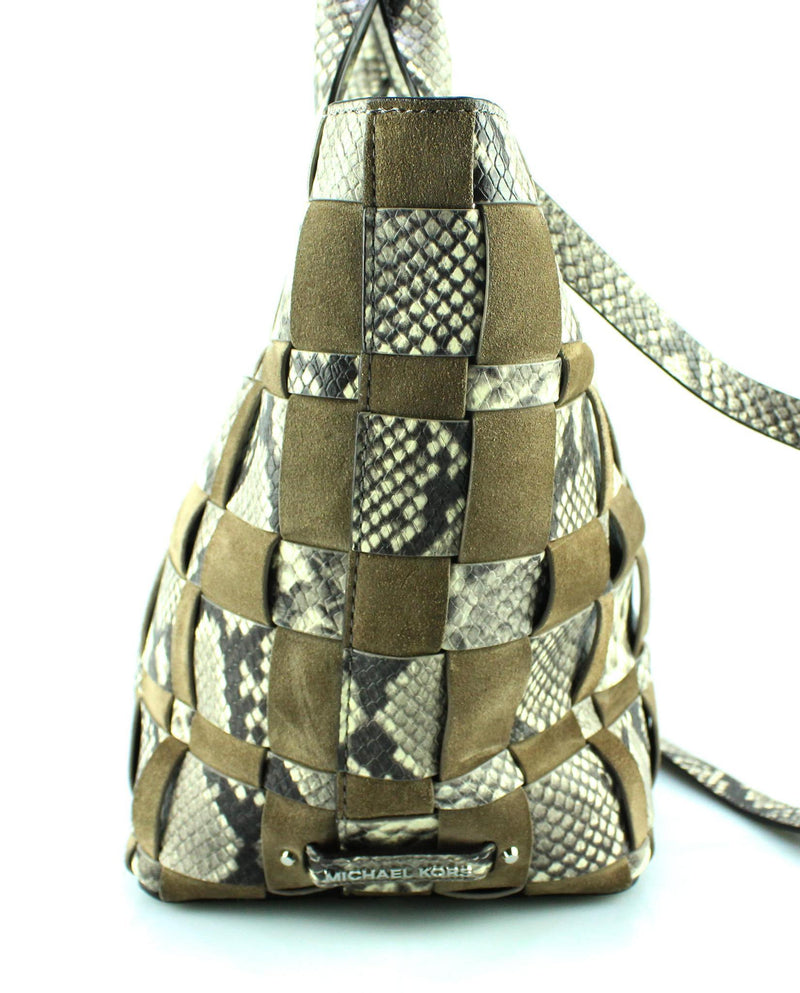 Michael Kors Limited Edition vivian Snake Embossed Tote