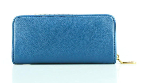 Marc By Marc Jacobs Blue Long Zip Around Wallet