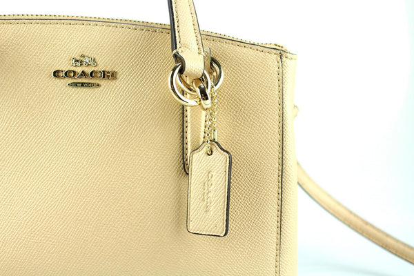 Coach Crossgrain Leather Mini Christie Carryall Beige