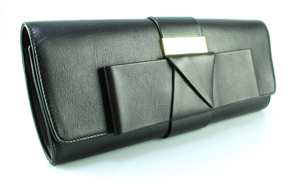 Alexander McQueen Soft Long Clutch Bow