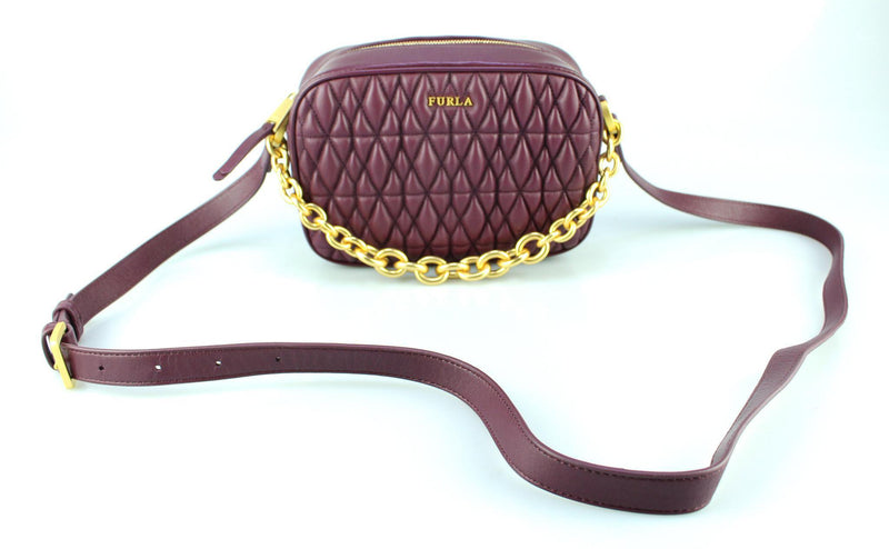 Furla Quilted Cometa Amaranto Camera Bag GH