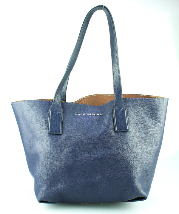 Marc Jacobs Wingman Leather Tote Navy