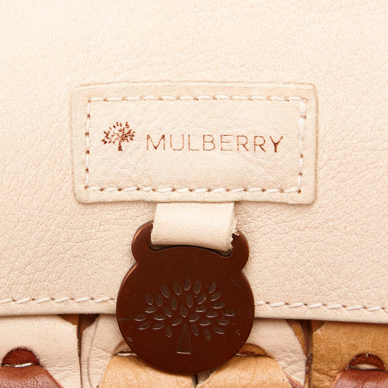 Mulberry Woven Leather Roxanne
