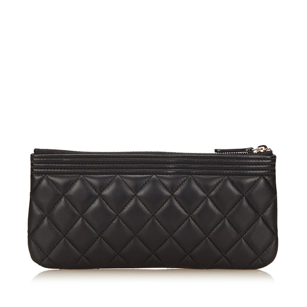 Chanel Lambskin Leather Clutch Bag 2016