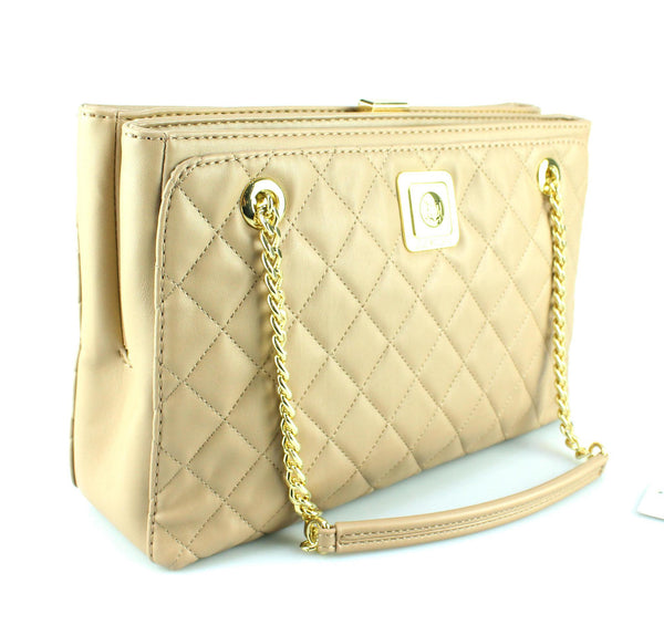 Love Moschino Beige Quilted Tote GH