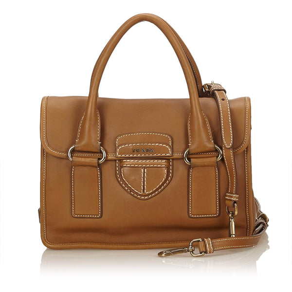 Prada Leather Pattina Handbag