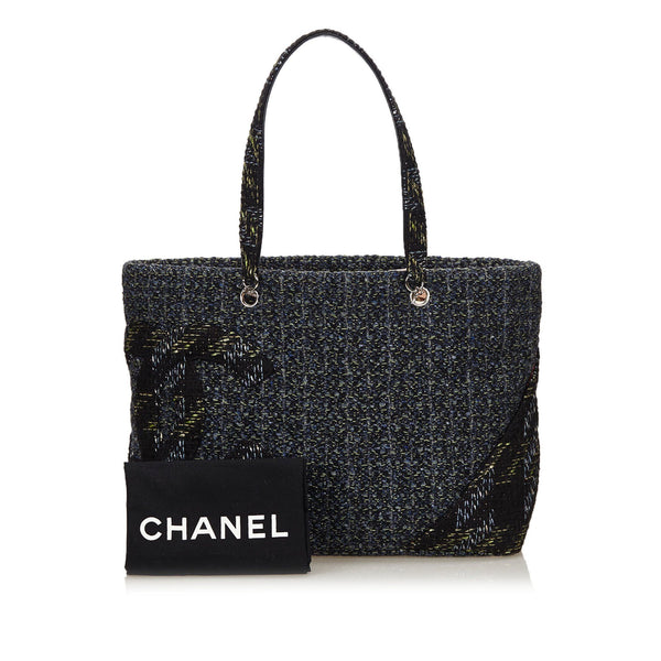 Chanel Rare Tweed Cambon Ligne Tote Bag
