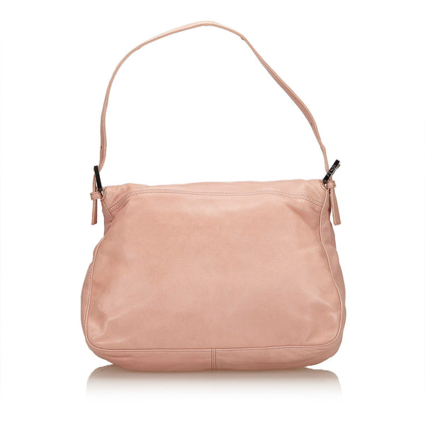 Fendi Pink Leather Baguette