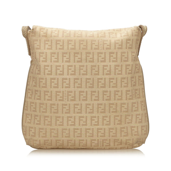 Fendi Brown/Beige Zucchino Canvas Crossbody Bag