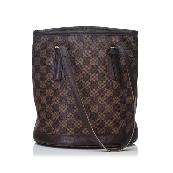 Louis Vuitton Damier Ebene Marais Bucket Bag DU1014