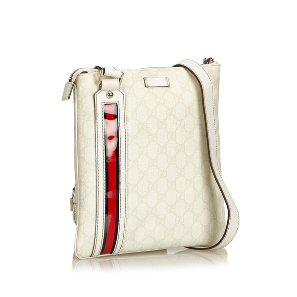 Gucci White Guccissima Crossbody Bag