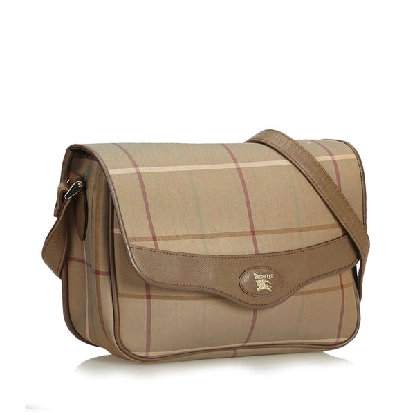 Burberry Vintage Plaid Jacquard Crossbody Bag