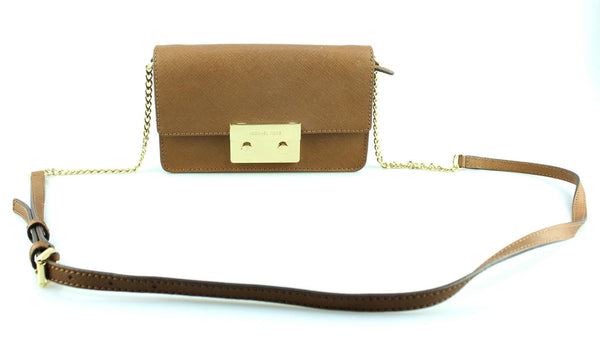Michael Kors Tan Saffiano Jet Set Cross Body GH (2)