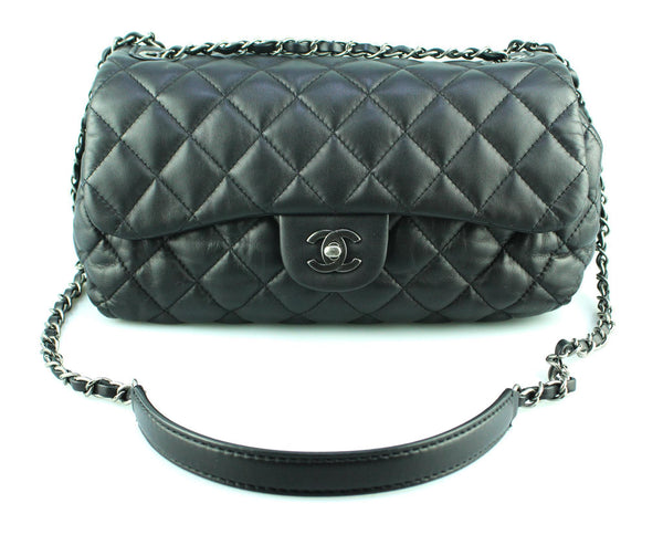 Chanel Black CC Soft Quilt Seasonal Flap Bag 2014