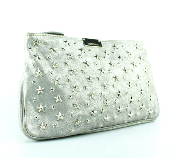 Jimmy Choo Silver Stars Clutch