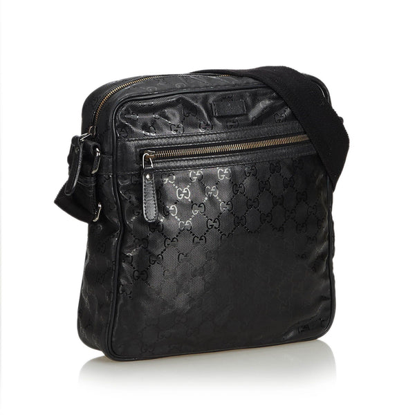 Gucci GG Imprime Messenger Bag Black