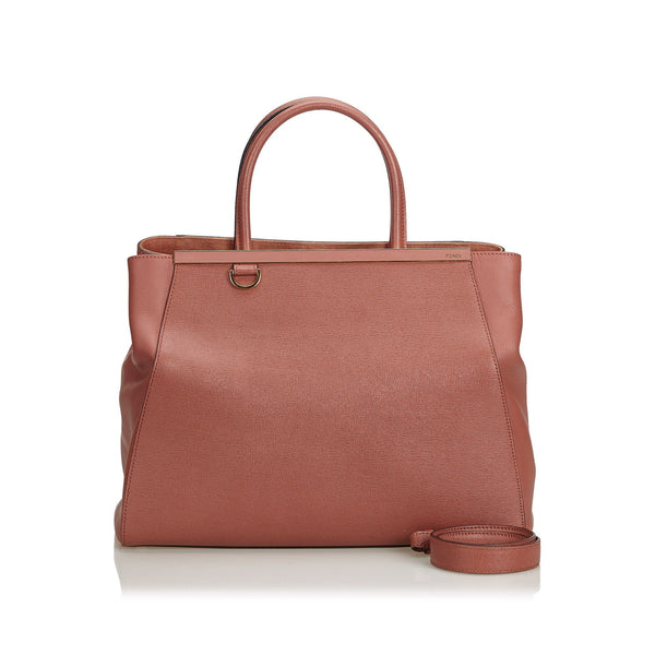 Fendi Dark Pink Leather 2 Jours Satchel