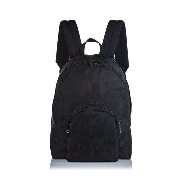 Alexander McQueen Jacquard Fabric Printed Backpack Black