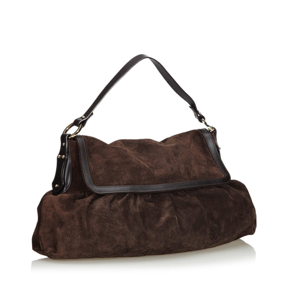 Fendi Vintage Suede Chef Shoulder Bag