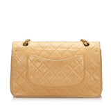 Chanel Classic Medium Lambskin Double Flap Bag Beige 94/96