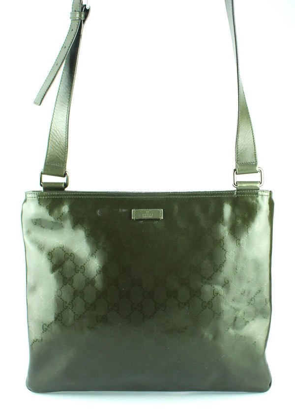 Gucci Militare Green Diamante GG Messenger Bag