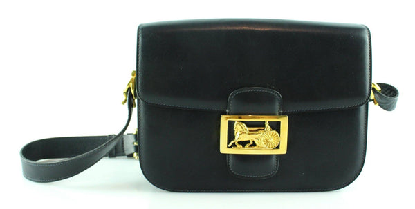 Celine Vintage Triomphe Navy Shoulder Bag GH