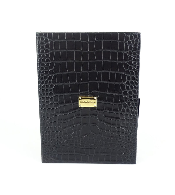 Dolce And Gabbana Croc Print Folio/Tablet Case