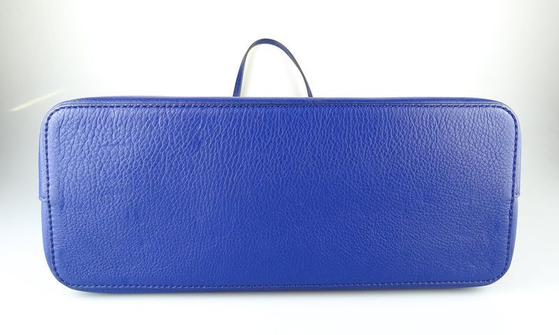 Tory Burch McGrath Tote Blue Leather