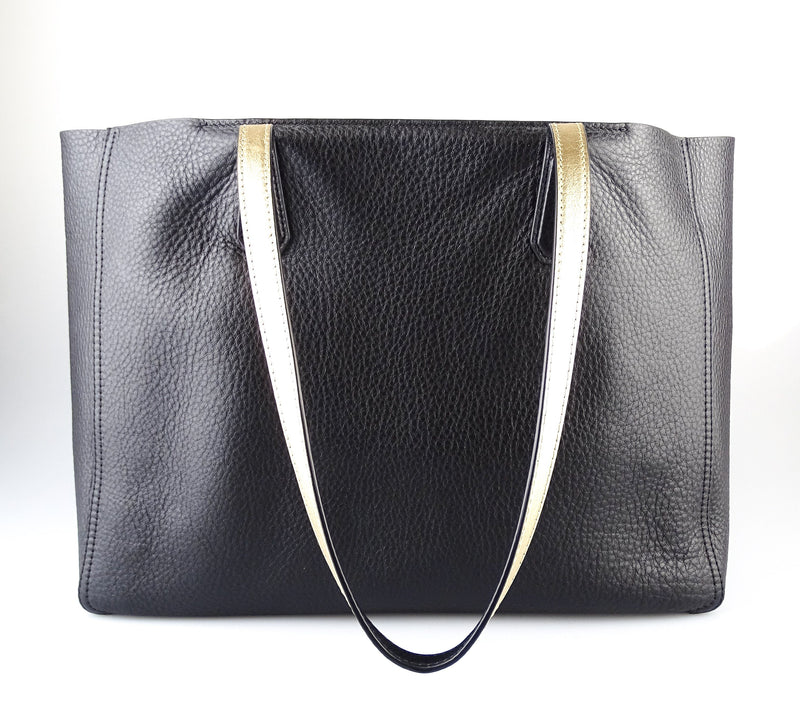 Tory Burch Black Leather Tote With Pochette GH