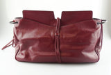Bottega Veneta Wine Leather Woven Shoulder Bag