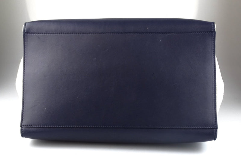 Celine Tapeze Smooth Calf Large Navy/Black And Canvas
