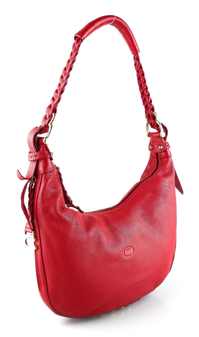Chesneau Red Hobo Leather Bag
