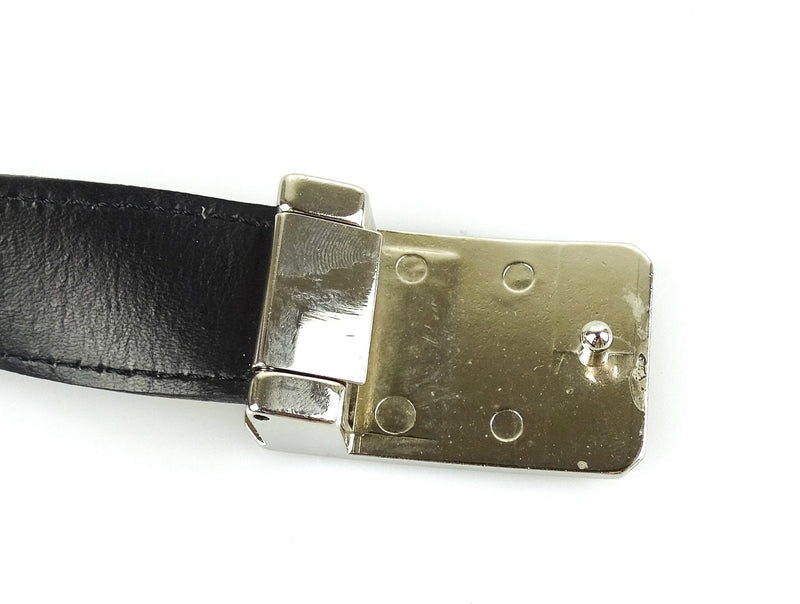 Burberry House Check Thin Belt With Silver Buckle 40 Inch/100 cm *2