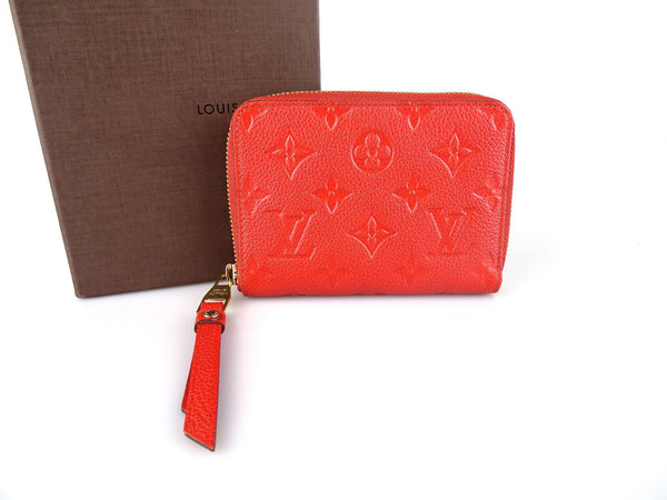 Louis Vuitton Monogram Empreinte Secret Compact Zippy Wallet TS4181 Orange
