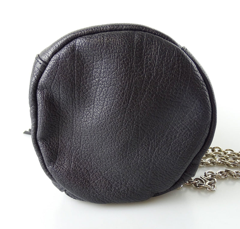 Mulberry Gerogia May Jagger Biker Pouch Black Soft polished Buffalo