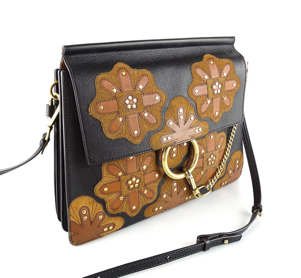 Chloe Faye Ltd Edition Flower Patches Black/Brown