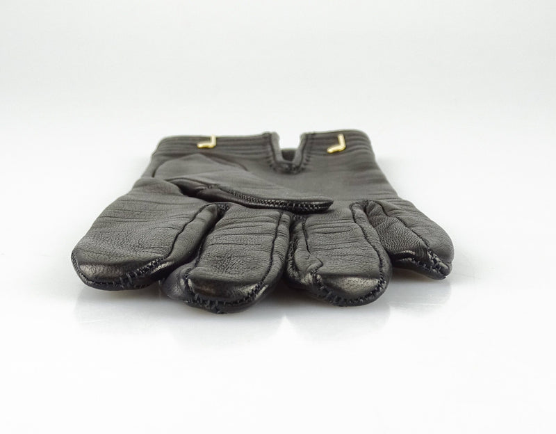 Hermes 6.5 Musical Note Leather Gloves