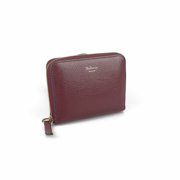 Mulberry Small Zip Around Purse Oxblood