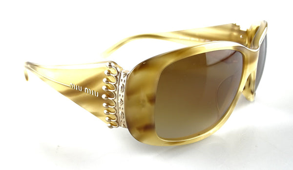 Miu Miu SMUO5G Gold Crown Sunglasses