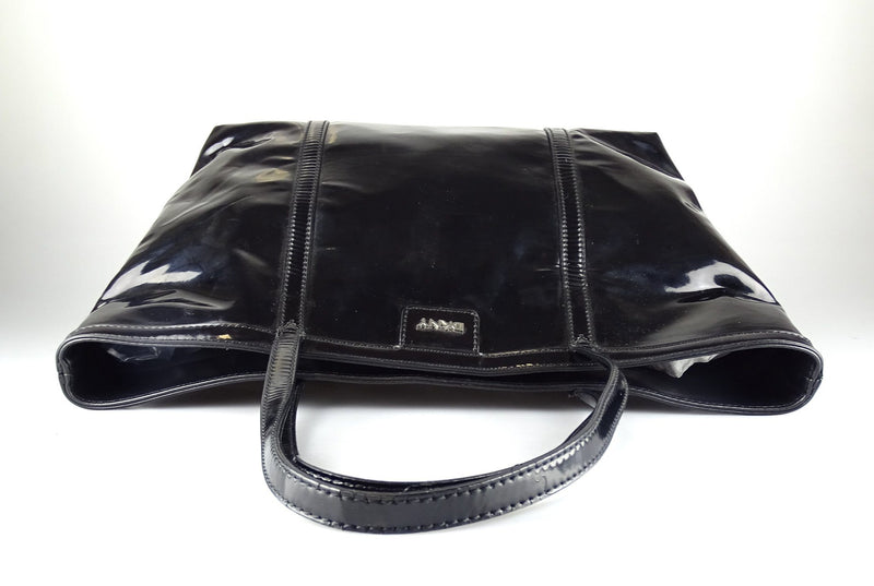 DKNY Black Drummed Leather Small Shopper